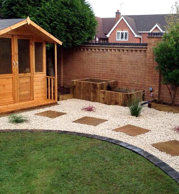 Garden Design, Pathway & Summerhouse