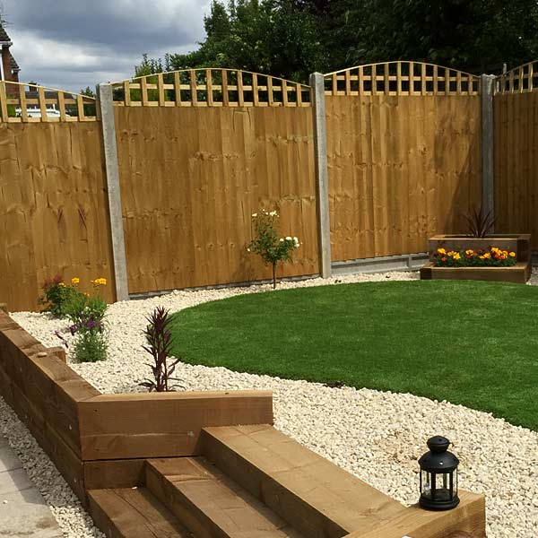 Fencing with concrete pillars