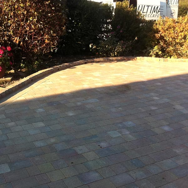 Various styles and shapes of driveways