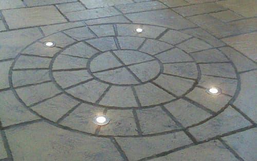 Lighting build into flooring