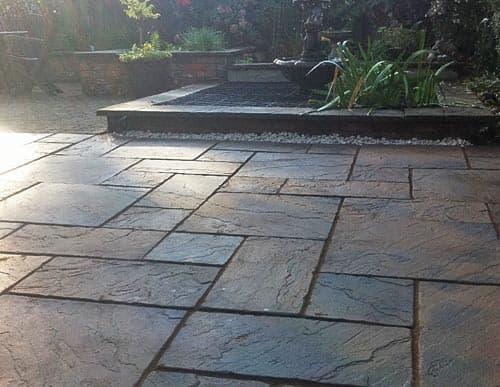 Block paved patio area