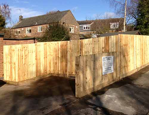 Commercial wooden fencing