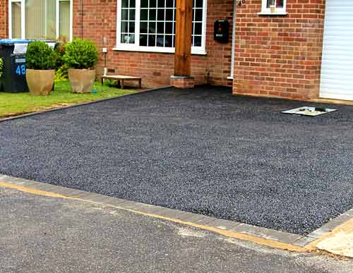 Driveway resin gravel black