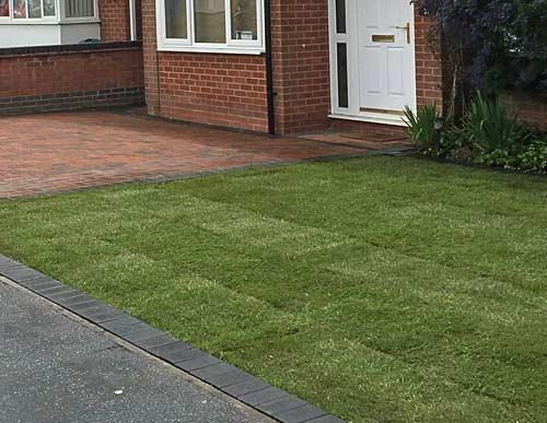 Front garden returfed