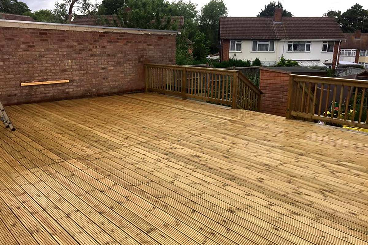 Decking in leicester supply and install of timber decks for Garden decking hinckley