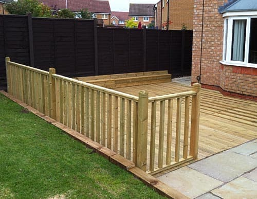 New decking area