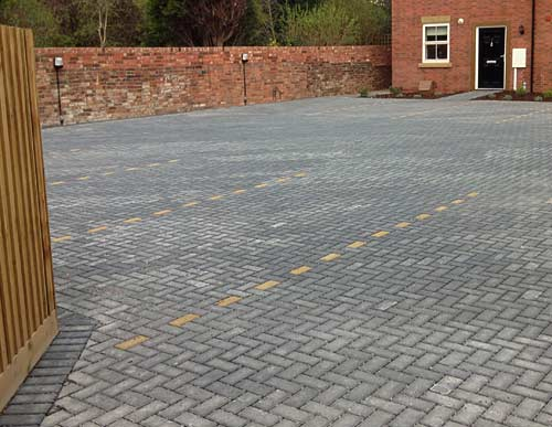 Block paving car park