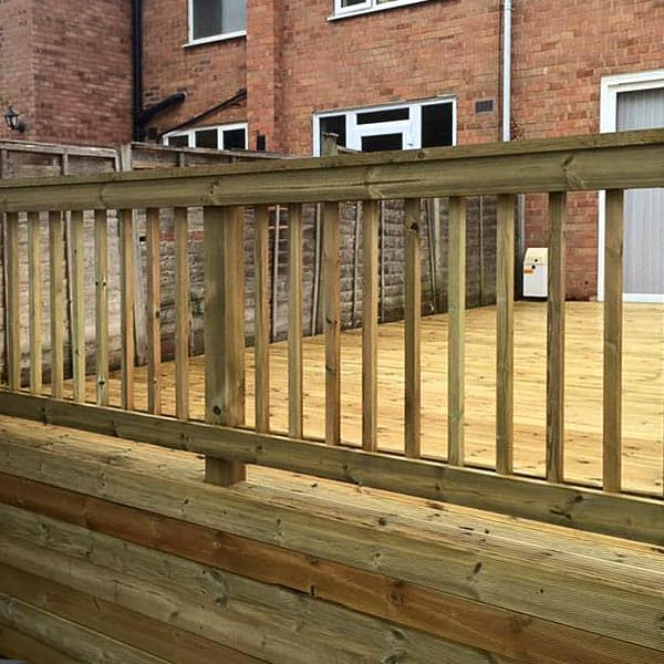 Fencing around Decking area