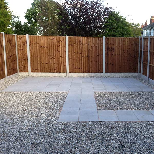 Fencing with new patio area