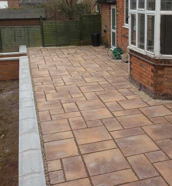 New paving patio area