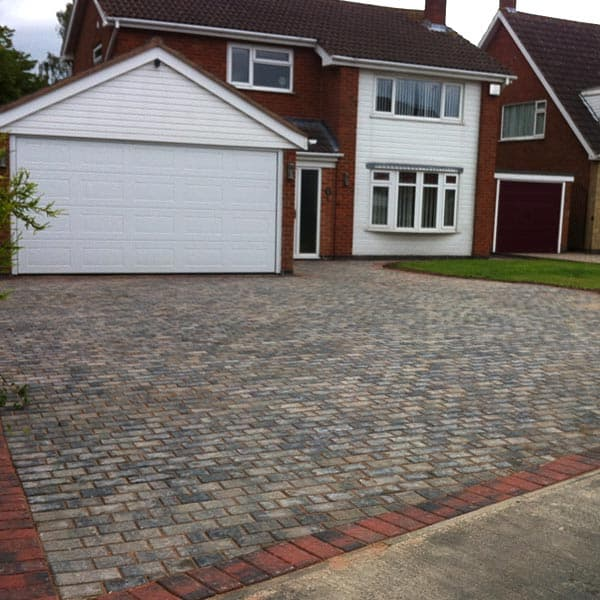Block Paved Driveway in Grey