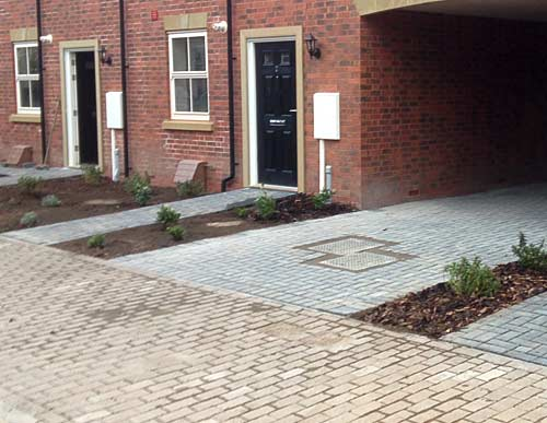 Commercial block paving paths