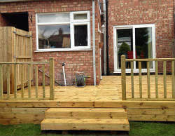 Decking with steps