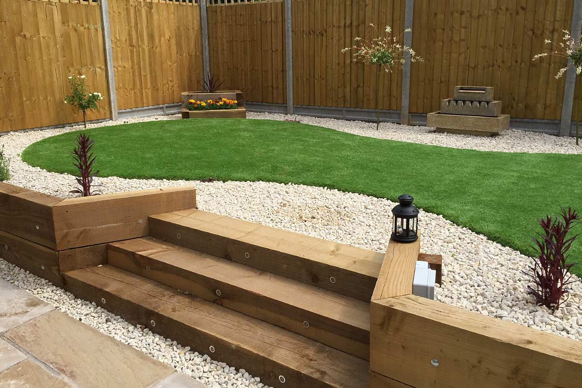 garden design gallery garden sleepers steps