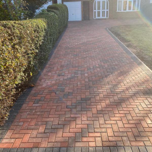 marshalls standard brindle block paving charcoal border
