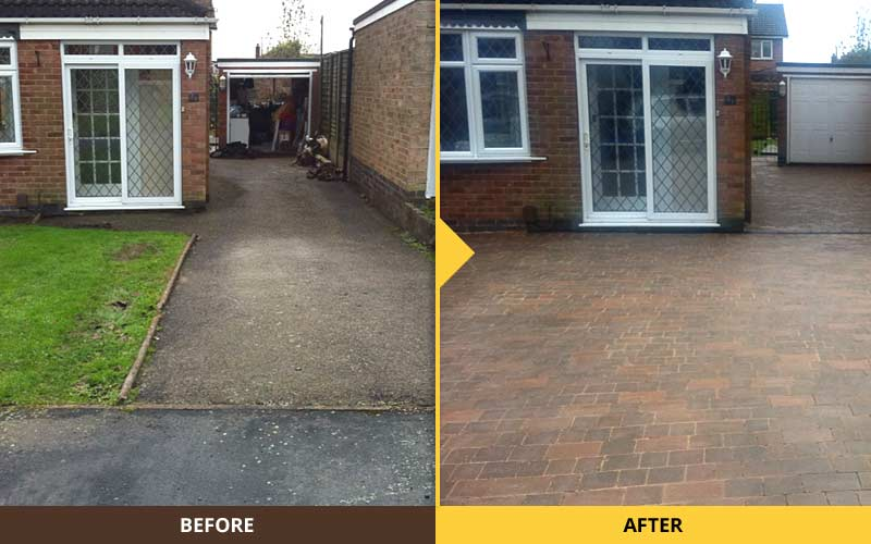 Before after new driveway ultimate landscapes ltd for New driveway ideas