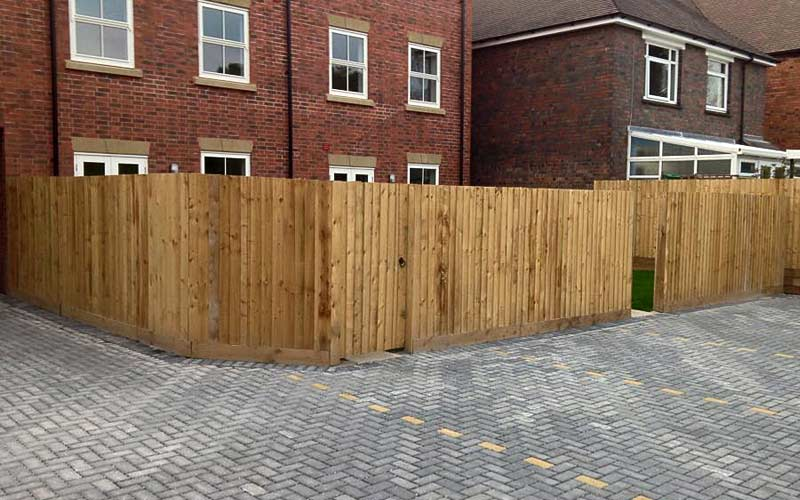 Housing estate fencing