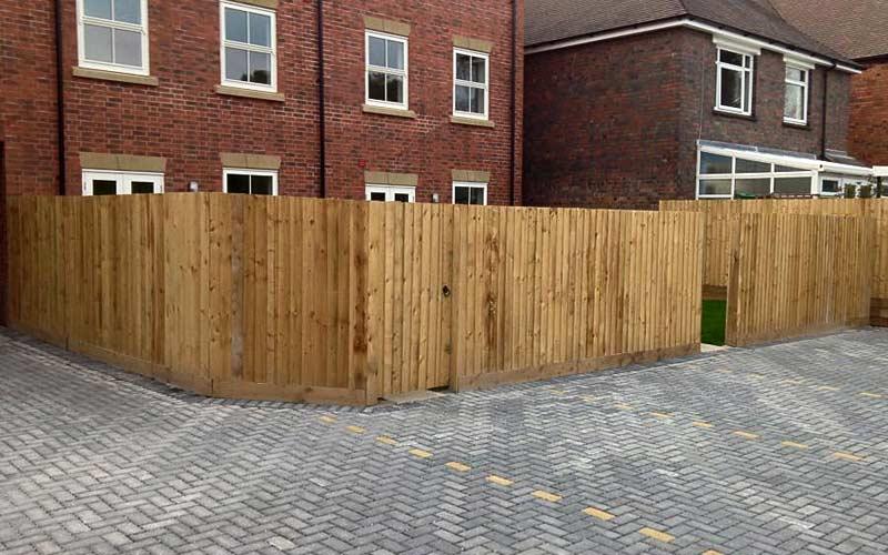 Housing estate fencing