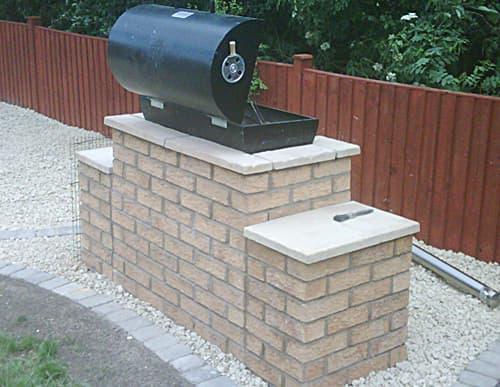 Bespoke BBQ brickwork
