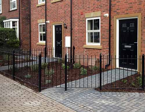 Commercial metal fencing