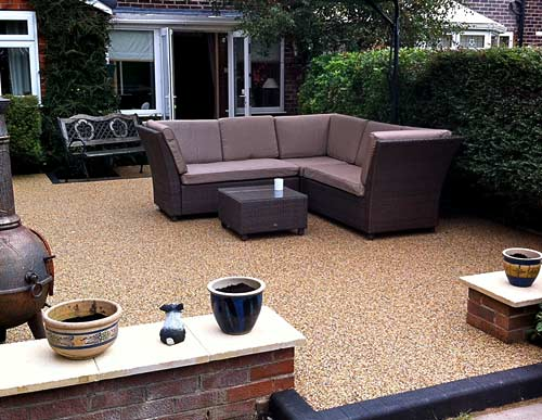 Resin bound gravel patio area