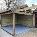 softwood timber gazebo and patio